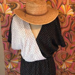 NASTY GAL Collection Sz 4 Midi Black White Dress